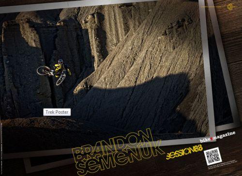 Bike Magazine Free Brandon Semenuk Trek Session 88 Bicycle Poster - Canada and US