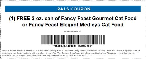 picture about Petco Coupons in Store Printable referred to as PETCO Good friends Card Printable Coupon for a Totally free 3 oz. can of