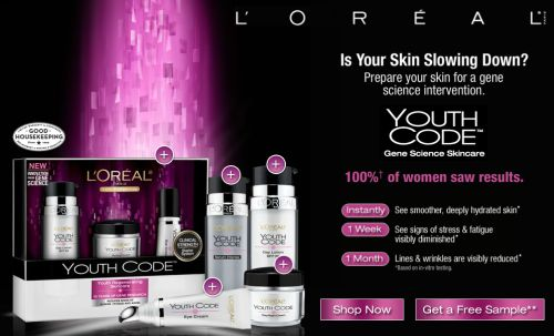 Walmart Free Sample of L'Oréal Paris Youth Code - US