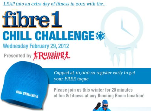 RunningRoom.com FIBRE1 Chill Challenge 2012 Free Toque on February 29, 2012 - Canada and US