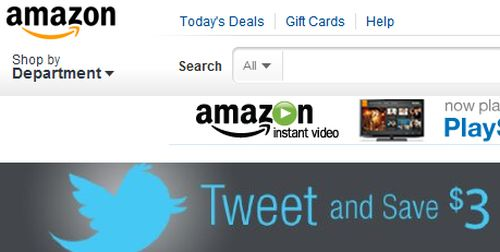 Free $3 Credit at Amazon.com Amazon Instant Video Credit for Tweeting - Exp. May 1, 2012 and Your Free Credit will Expire May 31, 2012