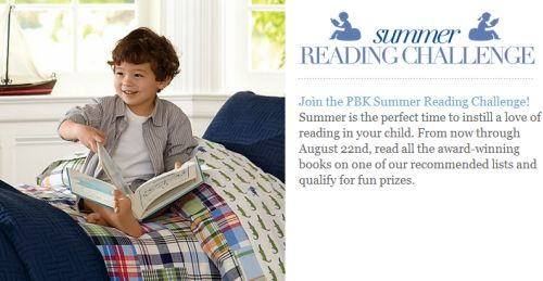 Free Book from Pottery Barn Kids Summer Reading Challenge - Exp. August 22, 2012
