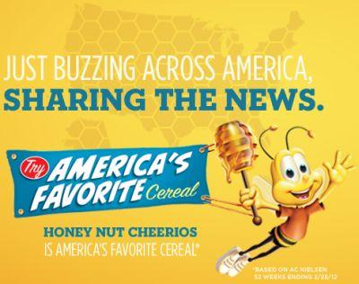 Cheerios.com Free Sample of Honey Nut Cheerios - US