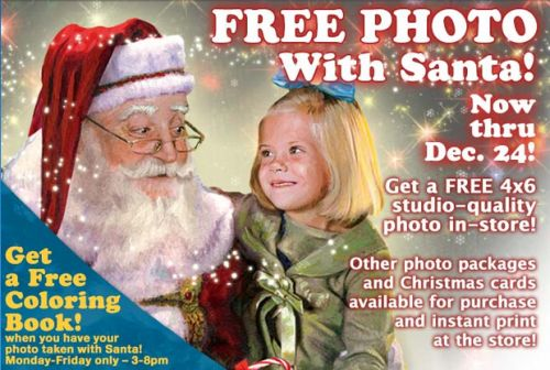 Bass Pro Shops Santa's Wonderland Free Santa Photo and Free Coloring Book