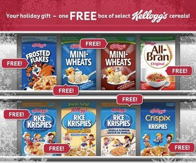 Kellogg Canada Free Coupon for a Free Box of Kellogg's Cereal via Facebook - Canada
