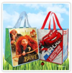 Disney Store Free Brave or Cars 2 Reusable Bag with 5 Plastic Shopping Bags on April 22, 2013