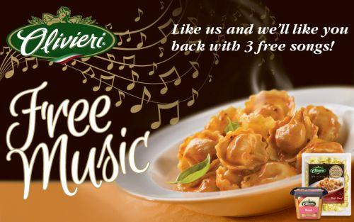 Olivieri Three Free Sony Music Canada Songs via Facebook - Canada