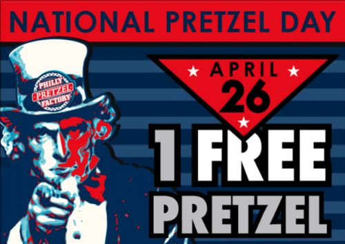 FreePretzels.com National Pretzel Day Free Pretzel