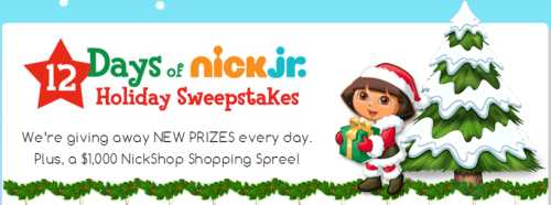 Nick Jr. Fan Club Win 12 Days of Nick Jr. Holiday Sweepstakes - US