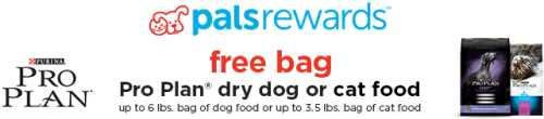Petco Printable Coupon for a Free Bag of Purina Pro Plan Dry Dog or Cat Food for Pals Rewards Members - Exp. February 15, 2014