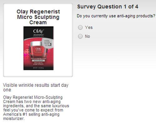 Target Sample Spot Free Sample of Olay Regenerist Micro Sculpting Cream - US