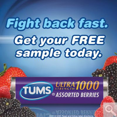 Costco Wholesale Free Tums Ultra Maximum Strength 12 Chewable Tablets Sample - US