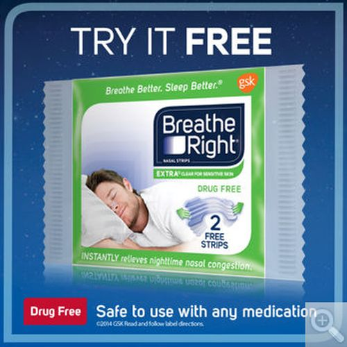 Costco Wholesale Free Breathe Right Extra Clear Nasal Strips Sample - US