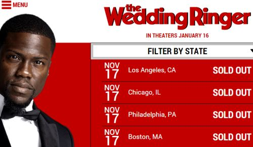 The Wedding Ringer Free Screening in Select US Cities