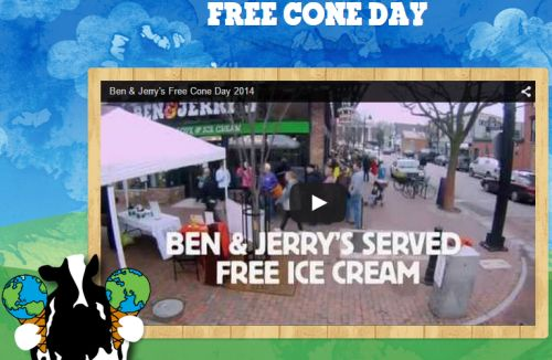 Ben & Jerry's Ice-Cream Free Cone Day on April 14, 2015