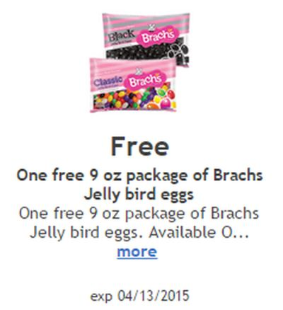 Ralphs Free Digital Coupon for a Free 9 oz Package of Package of Brach's Jelly Bird Eggs via Facebook - Exp. April 13, 2015