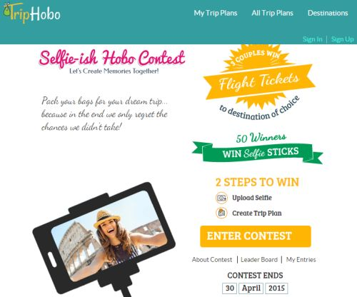 TripHobo Selfie-ish Hobo Contest - Exp. April 30, 2015, Australia, Canada, UK and US