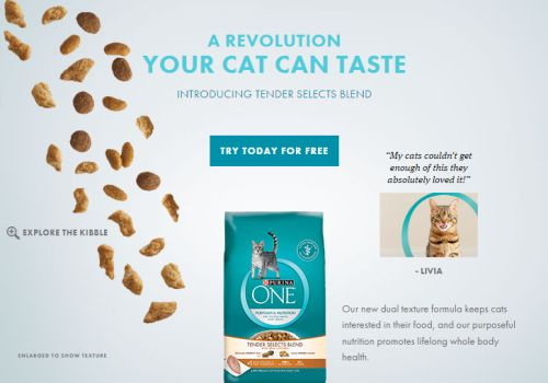 Purina ONE Tender Selects Blend Cat Food