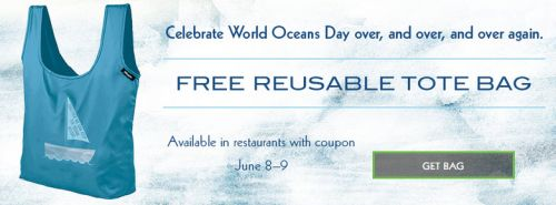 Rubio's World Oceans Day Beach Club Reusable Tote Bag