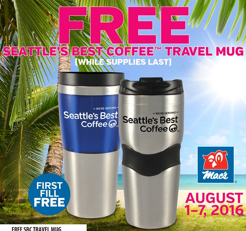 Free Mac's August 1 – Best Store In Mug Seattle's Coffee 7 Travel I9DHWY2eE