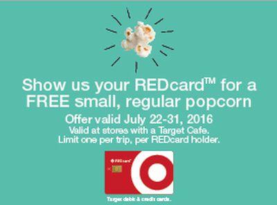Target Popcorn REDcard Target Cafe