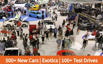 Orange County Auto Show Ticket and Motor Trend Magazine