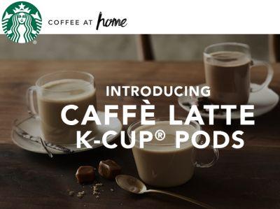 Starbucks Caffe Latte K-Cup Pod