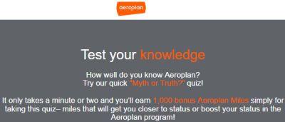 Aeroplan 1,000 Aeroplan Miles