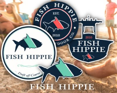 Fish Hippie Free Stickers