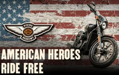 Harley Davidson Free Riding Course for American Heroes - US Military and First Responders Only