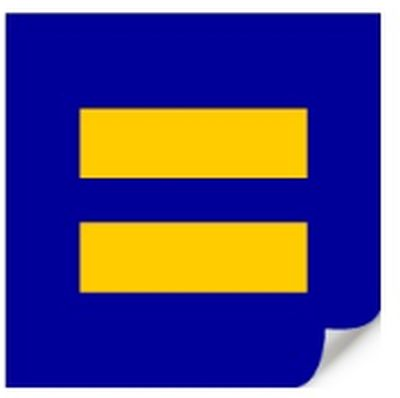 Human Rights Campaign Free HRC Equality Sticker - US