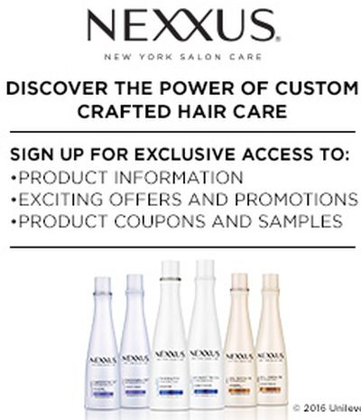 Nexxus Haircare Free Samples - US
