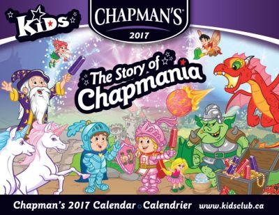 Chapmain's Kids kidsclub.ca Free 2017 Chapman's Calendar - Canada