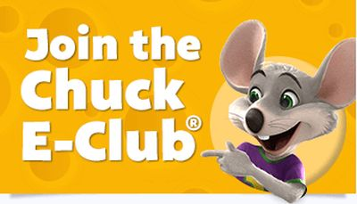 Chuck E. Cheese 10 Free Tokens for Signing up for Chuck E. Cheese's Email Club