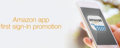Amazon Free 5 Amazon Gift Card for Downloading and Logging in to their Mobile App for the First Time - US