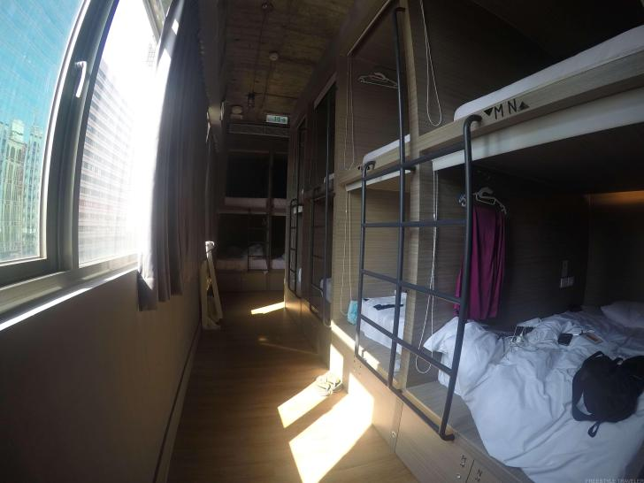 台北のドミトリー宿ミニインの部屋の中