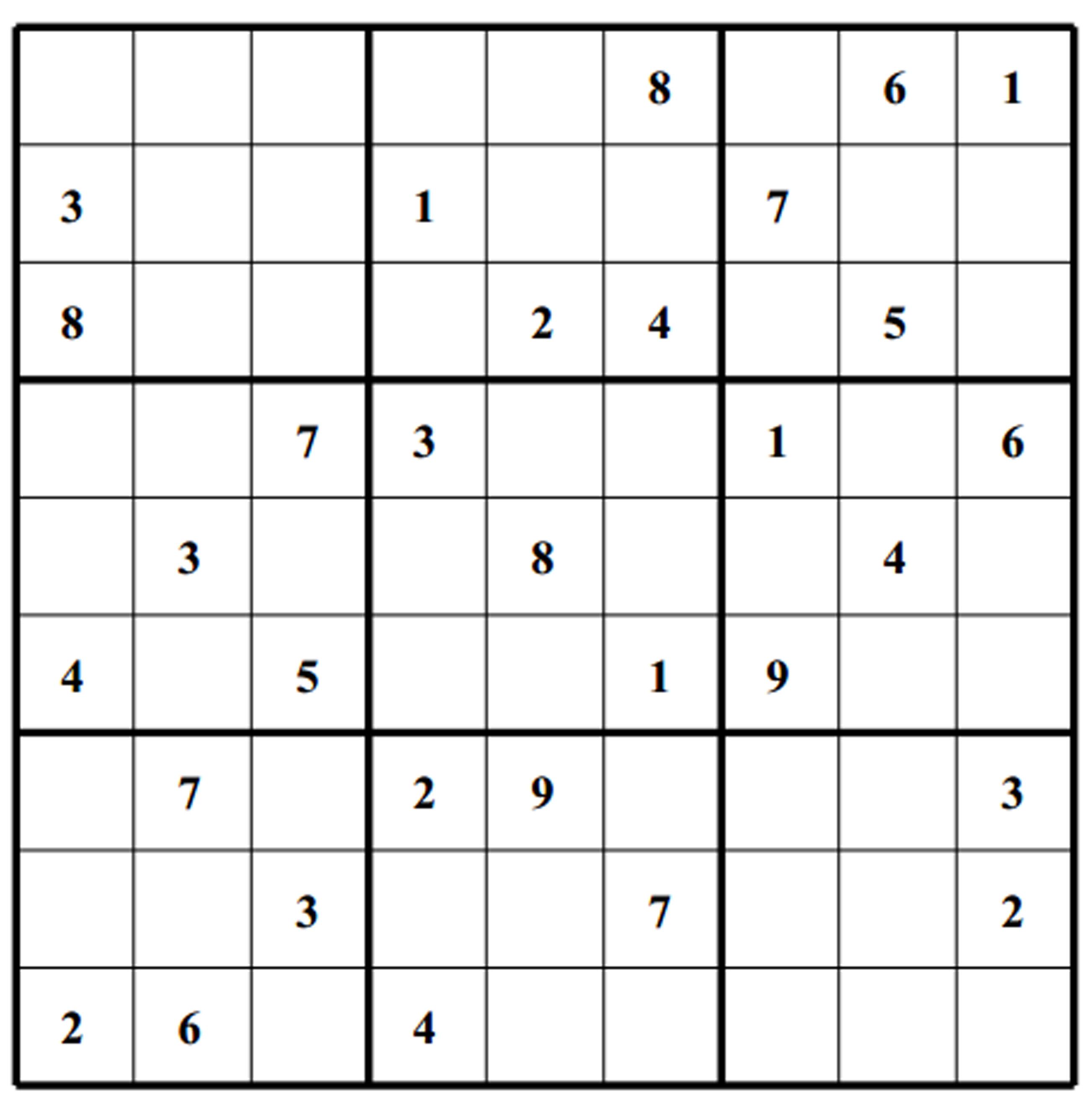 Big Blank Sudoku Grids