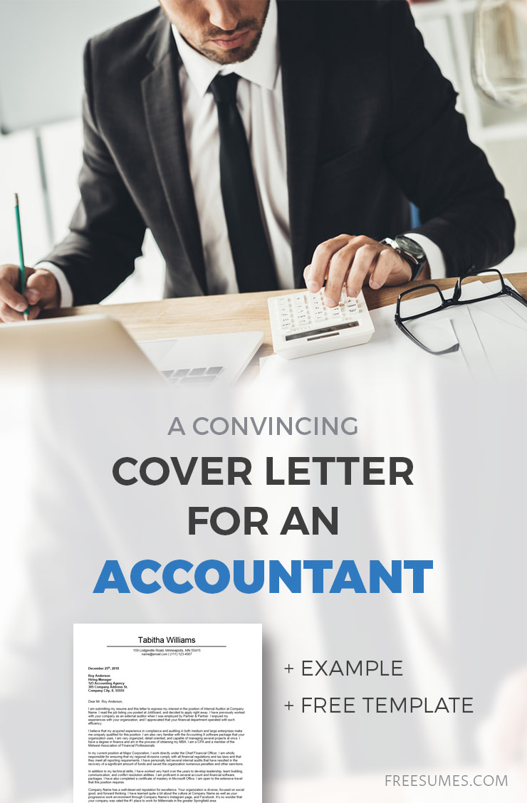 Accountant Cover Letters A Convincing Cover Letter Example For Accounting Freesumes