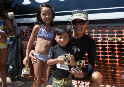 Craig Sugihara and grandchildren Naiya and Ryder Photo: Keoki