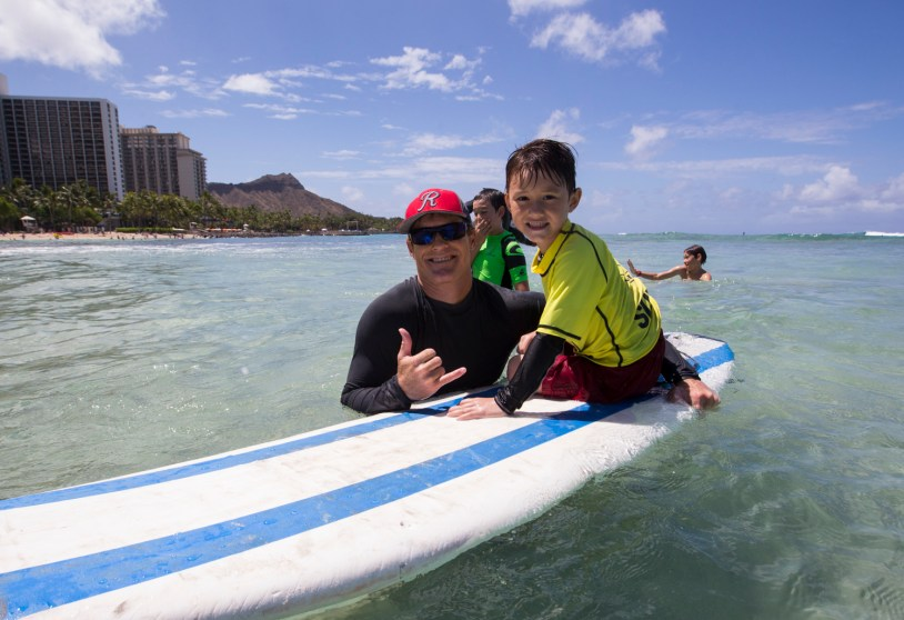 Keahi Tucker and son Photo: Keoki