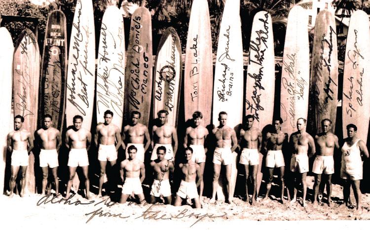 Waikiki Beach Boys March 18, 1937 Photo: J.H.