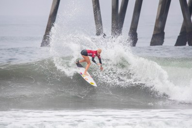HUNTINGTON BEACH, UNITED STATES - AUGUST 4: Tatiana Weston-Webb advances to the Semifinals of the 2019 VANS US Open of Surfing after winning Quarterfinal Heat 3 at Huntington Beach on August 4, 2019 in CA, USA. (Photo by Jenny Herron/WSL via Getty Images)
