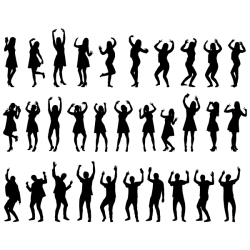 Happy people silhouette Free SVG