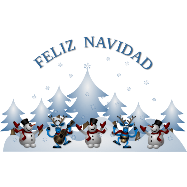 Set of 7 spanish english words or phrases. Vector Image Of Merry Christmas Card In Spanish Free Svg