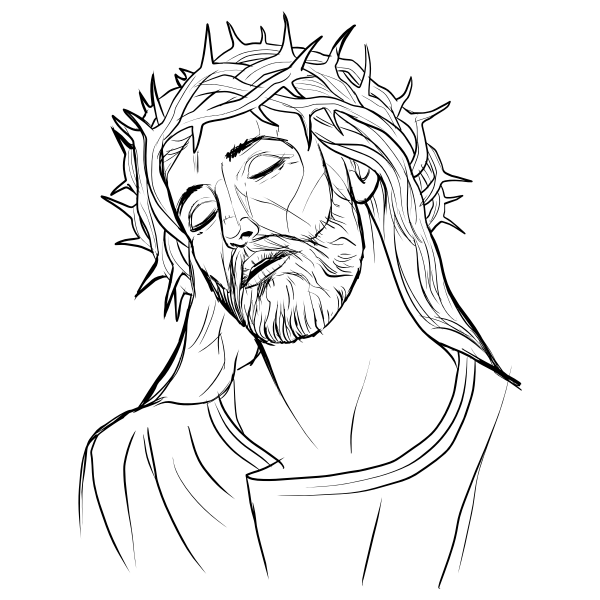 Jesus Outline Drawing at PaintingValley.com | Explore