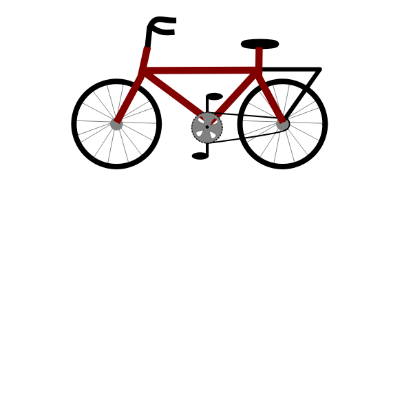 Bicycle Svg Free : bicycle, Vector, Illustration