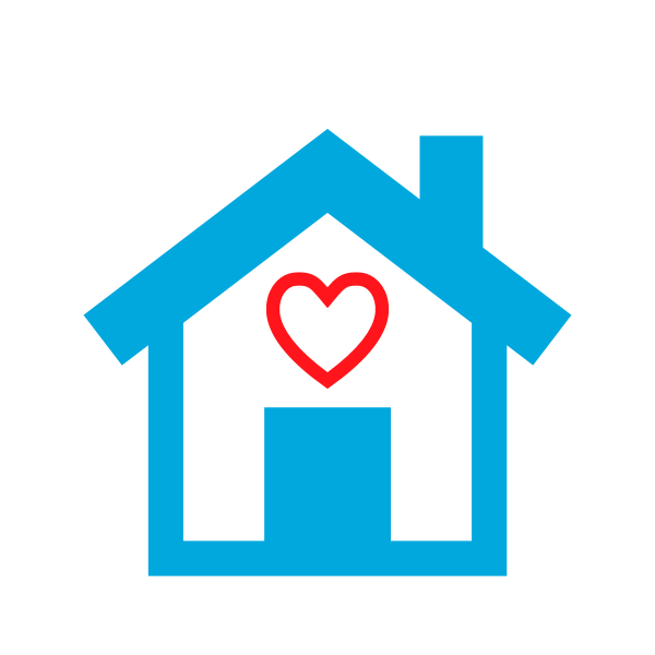 Download Vector illustration of home built with love icon | Free SVG