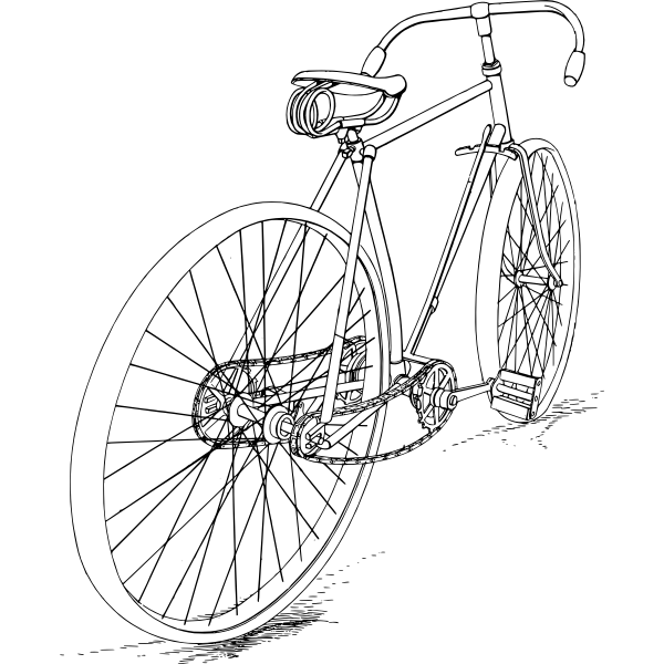 Bicycle Svg Free : bicycle, Bicycle, Vector, Drawing