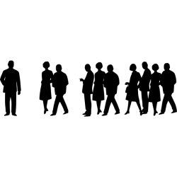 Silhouette vector illustration of group of people Free SVG