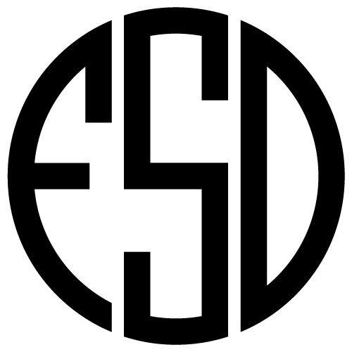 Round Monogram Font SVG